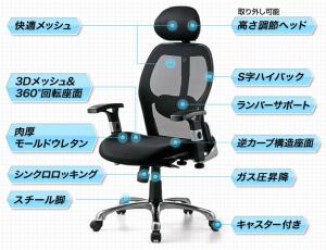 椅子の特徴
