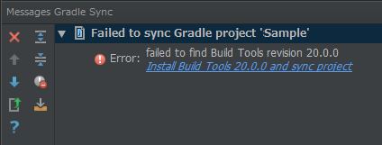 Error:failed to find Build Tools revision 20.0.0