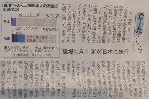 職場にAI 米が日本に先行